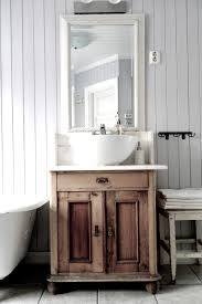 Used Bathroom Vanity Cabinets Vintage Interior Antique Stand Used As Bathroom Vanity Rustic