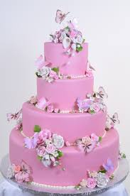 Pink Wedding Cakes Wedding Cakes Fresh Bakery Pastry Palace