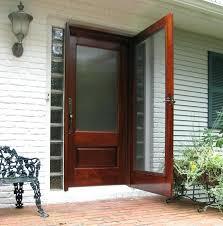 wood storm door with glass exterior glass panel door model glass storm 6 panel glass wood