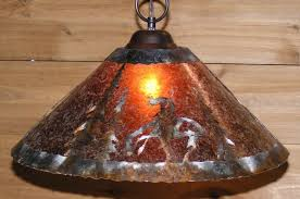 native american end of trail mica pendant light 14 18 w