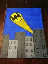 batman bat signal acrylic painting by amysdelight on 30 00