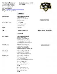 Awesome Soccer Player Resume Example Contemporary Simple Resume