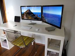 dual desks home office. modern computer desk designs for imac fascinating white thick design inspiration with dual desks home office