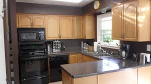 painted kitchen cabinets with black appliances. Image Of: Kitchen Wall Colors With Oak Cabinets Painted Black Appliances