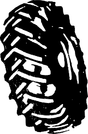 tires clipart black and white. Tractor Tire Intended Tires Clipart Black And White