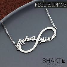 personalized necklace infinity symbol snless jewelry necklace etsymktgtool customnecklace personalnecklace customnecklaces