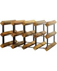 wood metal wine rack.  Rack Black And Brown WoodMetal 12bottle Wine Rack WoodMetal Throughout Wood Metal