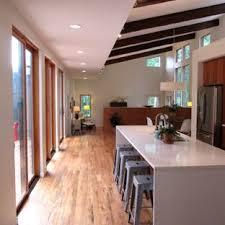 Modern kitchen island Quartz Minimalist Medium Tone Wood Floor Open Concept Kitchen Photo In Atlanta With Stainless Steel Appliances And Home Stratosphere Modern Kitchen Island Houzz
