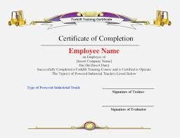Free Forklift Certificate Template Free Forklift License Template Download Magdalene Project Org