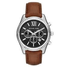 Shop Michael Kors Men's MK8456 Lexington Chronograph Black ...