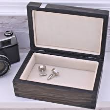 personalised wooden gentleman s watch box by warner s end grainy old wood ivory lining box for men cuff links