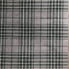 heather grey tartan rug