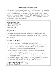 Sample Nursing Resume Nursing Patient