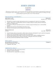 Resume Chronological Sample Cv Template Examples For