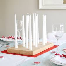 Make a Woodblock Candle Centerpiece