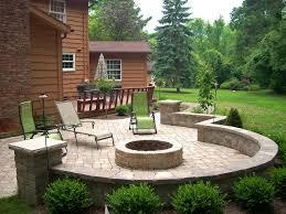 backyard fire pit traditional patio