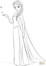 Elsa from The Frozen coloring page | Free Printable Coloring Pages