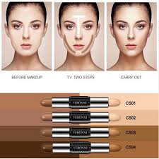 double ended bronzer 2 in 1 contour stick contouring highlighter 3d face concealer makeup full cover blemish pencil maquiagem