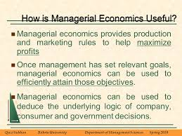 BUS      Managerial Economics The Production Process and Costs     Brief Contents Introduction to Managerial Economics