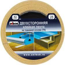 <b>Лента клейкая</b> двухсторонняя <b>Unibob</b>, 50 мм х 25 м в Москве ...