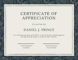 Volunteer Certificates Green Olive Tree Leaves Volunteer Appreciation Certificate