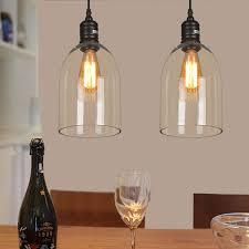 clear glass pendant light dome shape