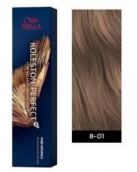 Koleston Perfect Hair Color Chart Wella Koleston Perfect Me Permanent Hair Color 8 01 Light Blonde Natural Ash