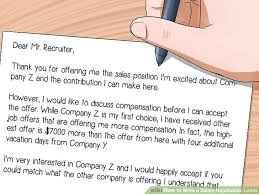 how to negotiate an offer letter how to write a salary negotiation letter 15 steps with pictures