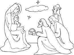 Drie Wijzen Kwamen Jezus Bezoeken Kleurplaat Gratis Kleurplaten