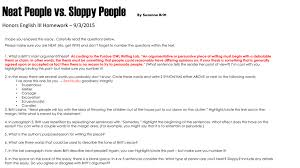 neat people vs sloppy people by suzanne britt