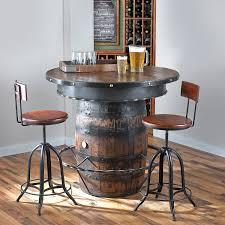 furniture tennessee whiskey barrel pub table preparing zoom