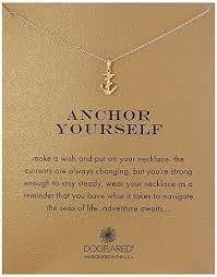 anchor yourself pendant necklace college graduation gift ideas graduation gifts for daughter sister best friend
