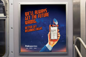 Life insurance can be complex and frustrating. Policygenius Goes Back To The Future In 2020 With Its New Subway Ad Campaign Tearsheet