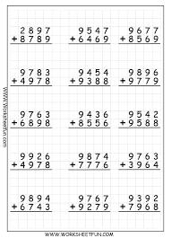 Vertical Addition Worksheets Single Digit Subtraction Worksheet And ...