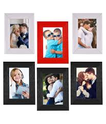 wall collage 6 x 8 inch red 2white 3black colour fibre table wall photo frames pack of 6 at best in india snapdeal