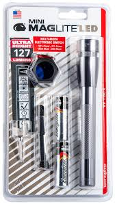 Maglite Sp2209c Mini Maglite Red Blue Clear Led 97 Lumens Aa 2 Battery Gray Combo Pack