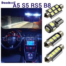 Audi A5 Interior Led Lights Us 17 98 29 Off 16 X Canbus Led Bulbs License Plate Lamp Interior Map Dome Light Kit For Audi For Audi A5 S5 Rs5 B8 Quattro 08 15 Cold White In
