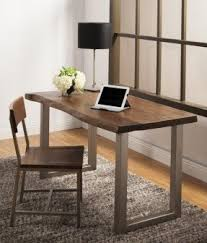 stunning home office warm solid oak. Montana Solid Wood Metal Leg Desk Farmhouse Home Office Santa Stunning Warm Oak