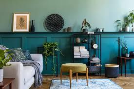 interior design of retro modern living