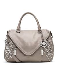 ... Luggage Bags EIS Outlets Michael kors Michael Large Odette Grommet  Satchel in Gray L Coach ...