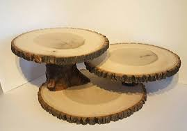 Large Wooden Tree Display Stand Awesome Large Wood Slice Display Stand Rustic Cake Cupcake Stand