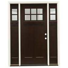 63 5 in x81 625 in 6 lt clear craftsman stained chestnut mahogany left