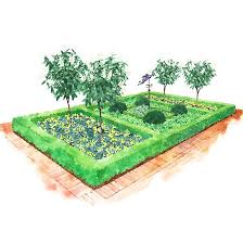 Small Picture Garden Plans with a Formal Flavor