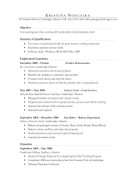 Brilliant Ideas of Baker Resume Sample For Sample Proposal