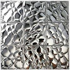 mirror mosaic tiles metallic mosaic tile silver stainless steel tile patterns kitchen wall brick tiles metal mirror mosaic tiles