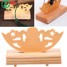 Wooden Display Stands For Figurines WHISM Folding Chinese Style Wooden Fan Stand Display Base Holder 58