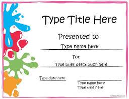 Kids Award Certificate Kids Award Certificate Docx Printable Microsoft Word