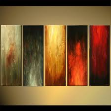 Canvas abstract artwork Colorful Five Canvases Abstract Art Solid Colors Osnat Fine Art Painting For Sale Five Canvases Abstract Art Solid Colors 5810