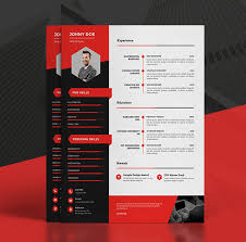 Cv Resume Template Cool Modern CVResume Templates Cover Letter Portfolio Page Design