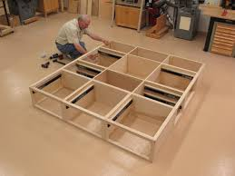 collection in king size bed frame with drawers plans and on
